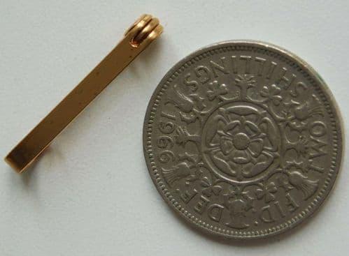 Goldtone tie pin circa 1940s UNUSED vintage stock Men's jewellery accessory